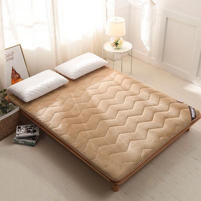 单边法莱绒波浪款床垫 0.9*1.9 波浪驼