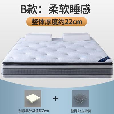 顺丰包邮 2019新款S02独立弹簧床垫 2 独立弹簧+2分乳胶(22cm)