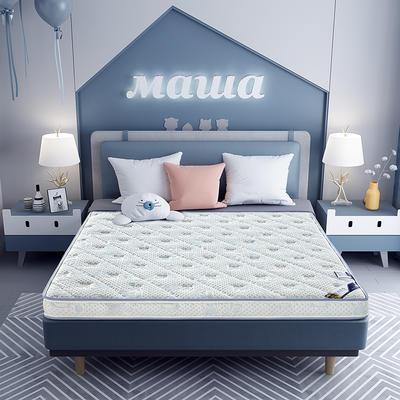 2020新款-乳胶记忆海绵床垫针织小熊款 90*190 小熊蓝6cm厚