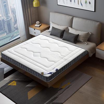2020新款-乳胶记忆海绵床垫竹炭纤维款 90*190cm/6cm 竹炭白