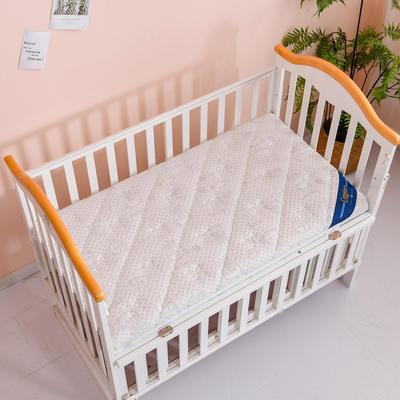 2020新款-婴儿棕垫(针织小熊/竹炭面料/4D面料) 56*100cm 小熊 灰3cm棕+2cm乳胶
