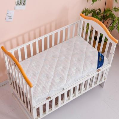 2020新款-婴儿棕垫(针织小熊/竹炭面料/4D面料) 56*100cm 小熊蓝3cm棕+1cm乳胶