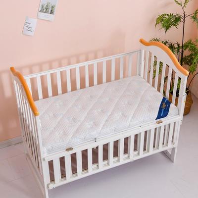 2020新款-婴儿棕垫(针织小熊/竹炭面料/4D面料) 56*100cm 小熊蓝3cm棕+2cm乳胶