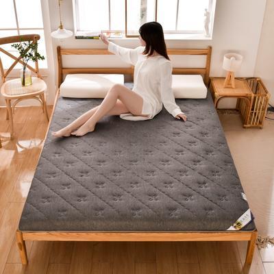 2020新款-單邊乳膠床墊 0.9m床 四葉草-灰6cm