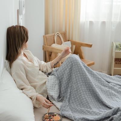 2021新款-水洗三层纱布毛巾被夏被夏凉被 150x200cm 丁格灰