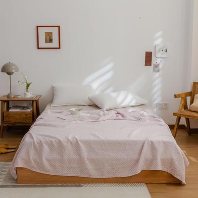 2021新款-水洗三层纱布毛巾被夏被夏凉被 150x200cm 回字格紫