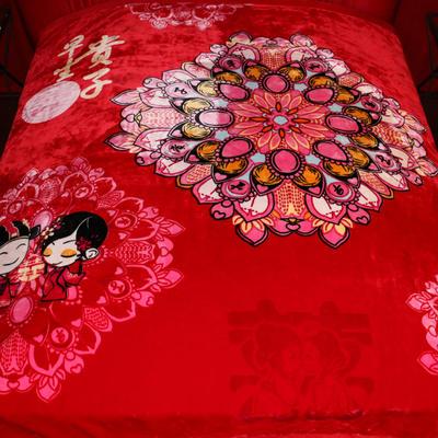 西班牙盖毯 200cmx230cm 包边早生贵子