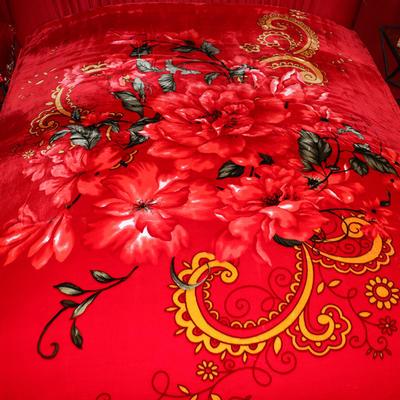 西班牙盖毯 200cmx230cm 勾边百花王