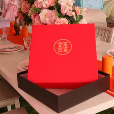 婚庆天地盖礼盒四六件