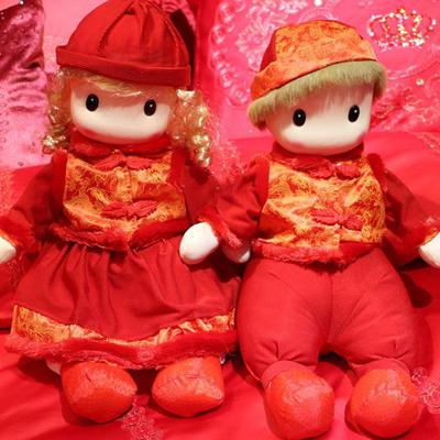 婚庆压床娃娃——唐装娃娃