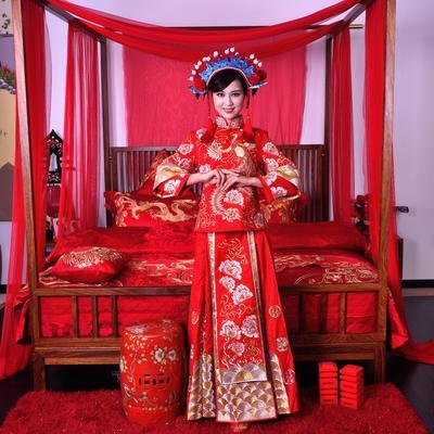 婚庆刺绣盖头 喜服 angelbaby同款礼服【女款】