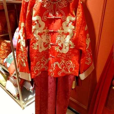 婚庆刺绣盖头 喜服 angelbaby同款礼服【男款】