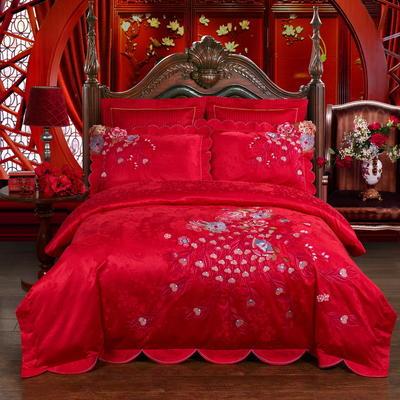 婚庆系列——魅惑婚庆/全棉/提花/绣花/四件套/多件套 1.5m(5英尺)床 4件套