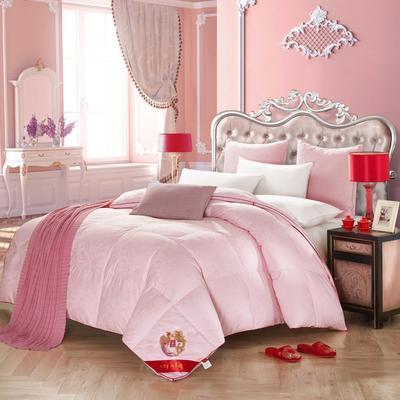羽绒被-【龙凤呈祥】白色/粉色 200X230cm/2.4斤 龙凤呈祥羽绒被 粉色