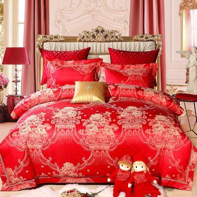 简约婚庆霓彩系列《多芬娜-4》 1.5m床-1.8m床 红色