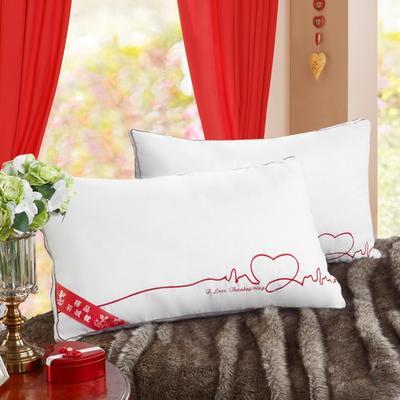 枕芯-同芯结羽丝枕 同心结羽丝枕一个