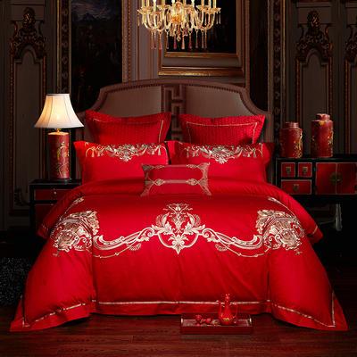 2020新款-婚庆多件套(慕芮雅) 标准(1.5m-1.8m床) 床单式四件套