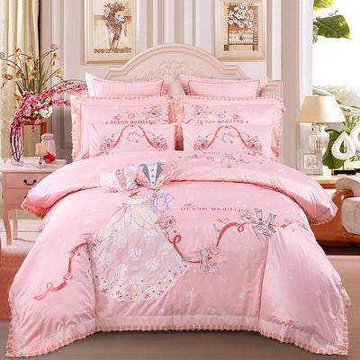 2020新款-婚庆多件套(爱的嫁衣) 标准(1.5m-1.8m床) 床盖式六件套