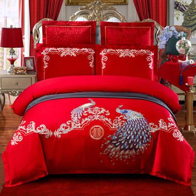2020新款-婚庆多件套(总) 标准床单式四件套1.5m床-1.8m床 蜜月佳期全棉款