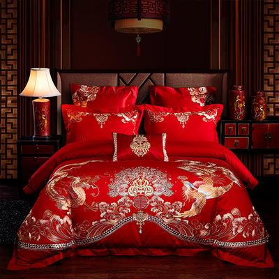 2020新款-婚庆全棉热款40s(总) 标准床单式四件套1.5m床-1.8m床 心相随