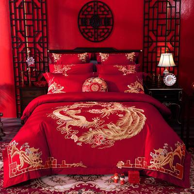 2020新款-婚庆100支(总) 标准床单式四件套1.5m床-1.8m床 千里江山