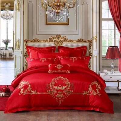 2020新款-婚庆提花套件(总) 标准床单式四件套1.5m床-1.8m床 爱慕