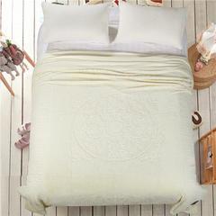 立体雕花超细旦双层毛毯 240cmx220cm 圈圈花-米白