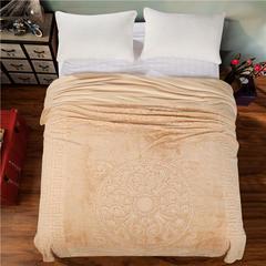 立体雕花超细旦双层毛毯 240cmx220cm 圈圈花-驼