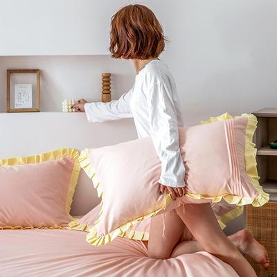 单品枕套/对 48cmX74cm 百褶公主玉