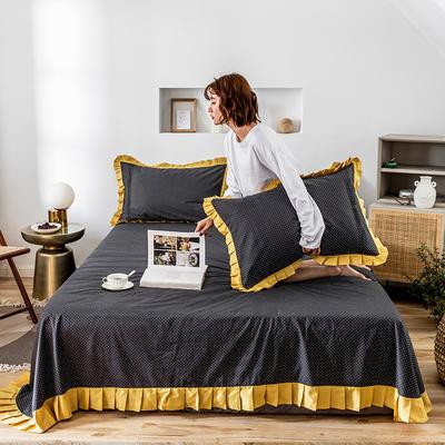 单品床单 180cmx230cm 百褶波点黄