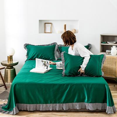 单品床单 180cmx230cm 百褶千墨绿