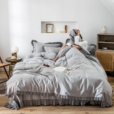 四件套 1.2m床三件套 百褶银千鸟