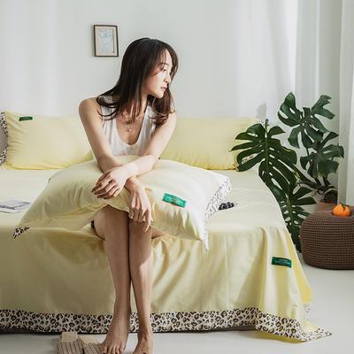 40s贡棉宽边--单床单 180cmx230cm 嫩鹅黄豹纹