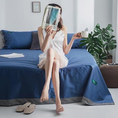 40s贡棉宽边--单床单 180cmx230cm 挪威蓝千鸟