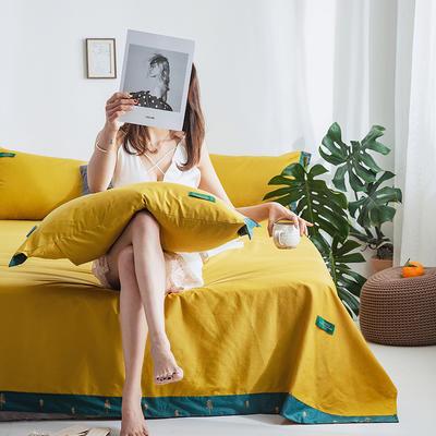40s贡棉宽边--单床单 180cmx230cm 印象梵高黄