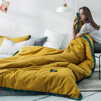 40s贡棉宽边--单被套 150x200cm 印象梵高黄