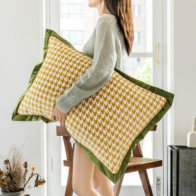 2019新款臻丝绒撞色枕套单品/对 48cmX74cm 格伦格黄绿