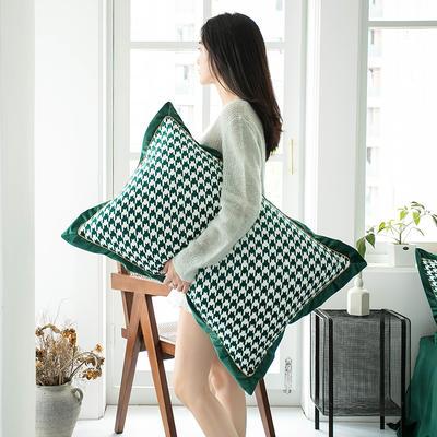 2019新款臻丝绒撞色枕套单品/对 48cmX74cm 格伦格墨绿