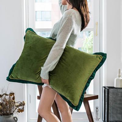 2019新款臻丝绒撞色枕套单品/对 48cmX74cm 牛油果绿