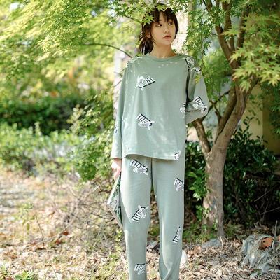 2020新款针织印花家居服-长袖款 均码 斑马-套装