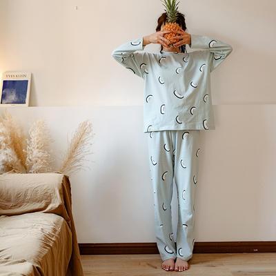 2020新款针织印花家居服-长袖款 均码 火龙果-套装