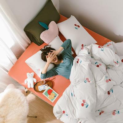 2020第二季针织棉(日系和风)系列四件套 1.2m床单款三件套 樱桃