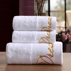 星级酒店全棉铂金段浴巾毛巾3件套梦想 三件套送礼盒