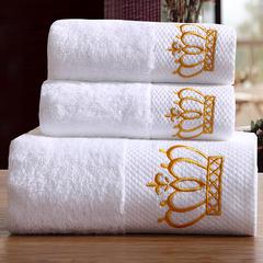 星级酒店全棉铂金段浴巾毛巾3件套皇冠 三件套送礼盒