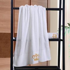 星级酒店全棉铂金段浴巾毛巾3件套皇冠 单浴巾