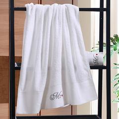星级酒店全棉铂金段浴巾毛巾3件套先生 单浴巾
