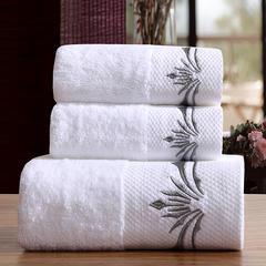 星级酒店全棉铂金段浴巾毛巾3件套魅影 三件套送礼盒