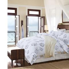 床品套件 40贡缎酒店印花四件套 210*240cm 西雅图之夜