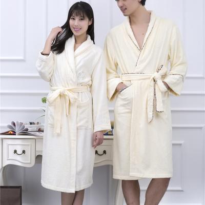 毛巾浴巾  竹纤维浴袍 均码 男款