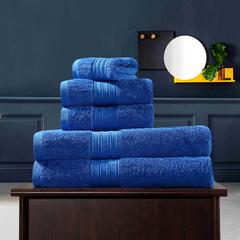 毛巾浴巾 梵高毛浴巾三件套 宝石蓝